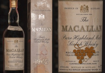The Macallan 1962 Rinaldi Italian import